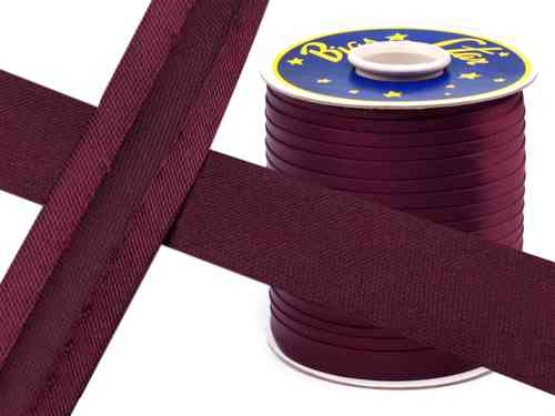 biais satin bordeaux